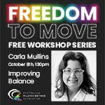 """Freedom to Move Series with Carla Mullins """"Improving Balance"""""""